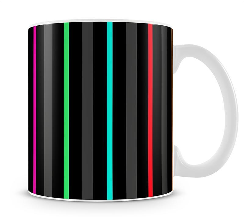 Colour Bar Stripes Mug - Canvas Art Rocks - 1