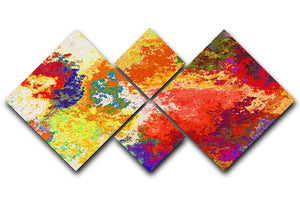 Colour Splash Version 2 4 Square Multi Panel Canvas  - Canvas Art Rocks - 1