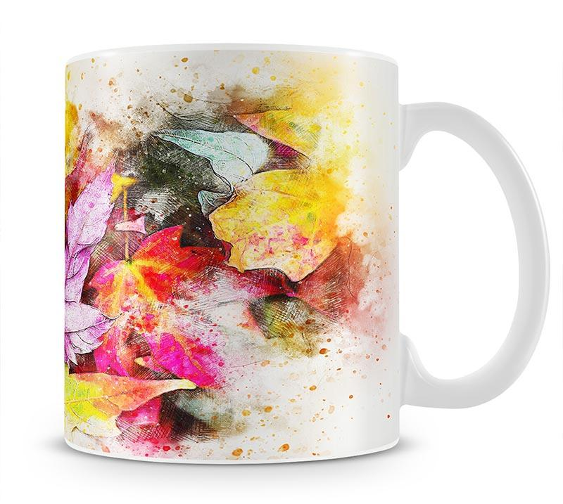 Coloured Leaves Mug - Canvas Art Rocks - 1