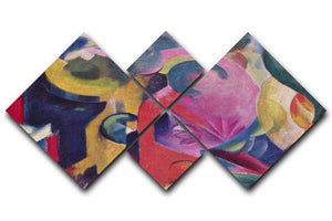 Composition III by Franz Marc 4 Square Multi Panel Canvas  - Canvas Art Rocks - 1