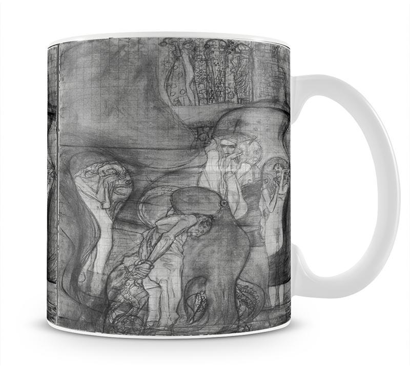 Composition draft of the law faculty image by Klimt Mug - Canvas Art Rocks - 1