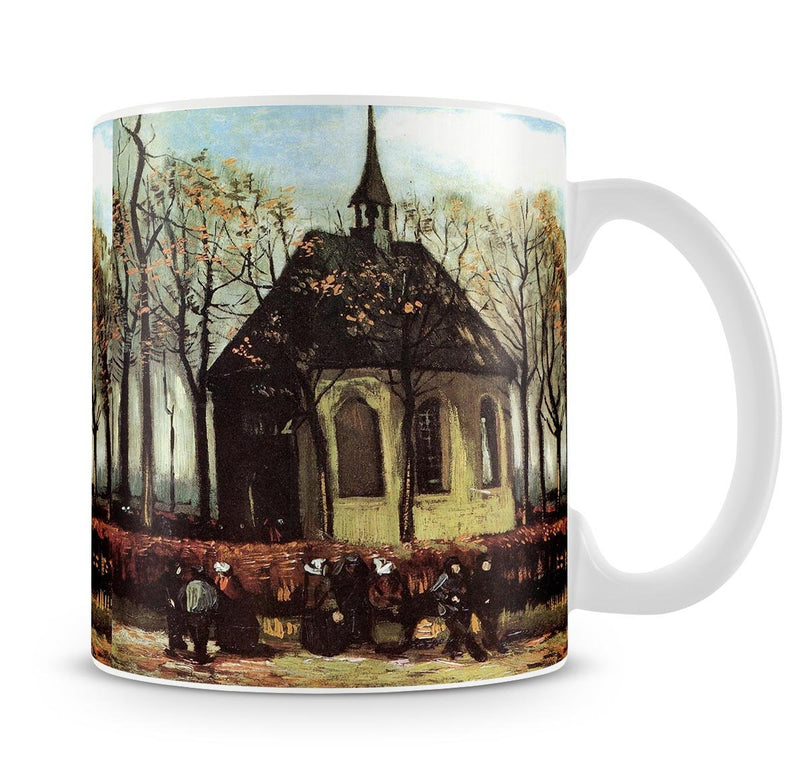Congregation Leaving the Reformed Church in Nuenen by Van Gogh Mug - Canvas Art Rocks - 4