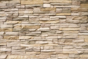 Contemporary stacked stone Wall Mural Wallpaper - Canvas Art Rocks - 1