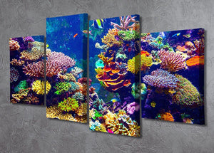 Coral Reef and Tropical Fish 4 Split Panel Canvas  - Canvas Art Rocks - 2