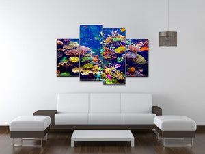 Coral Reef and Tropical Fish 4 Split Panel Canvas  - Canvas Art Rocks - 3