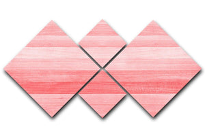 Coral pink or peach and salmon color 4 Square Multi Panel Canvas  - Canvas Art Rocks - 1