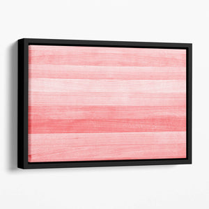 Coral pink or peach and salmon color Floating Framed Canvas