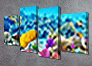 Corals and tropical fish 4 Split Panel Canvas  - Canvas Art Rocks - 2