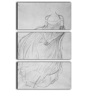 Costume study by Klimt 3 Split Panel Canvas Print - Canvas Art Rocks - 1
