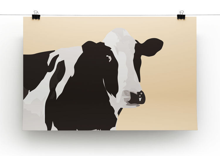 Fresian Cow Pop Art Print - Canvas Art Rocks - 2