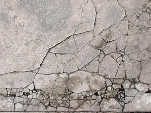 Cracked concrete Wall Mural Wallpaper - Canvas Art Rocks - 1