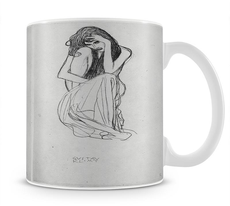 Crouching from the front by Klimt Mug - Canvas Art Rocks - 1