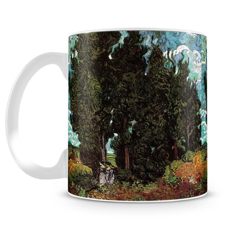 Cypresses with Two Female Figures by Van Gogh Mug - Canvas Art Rocks - 4