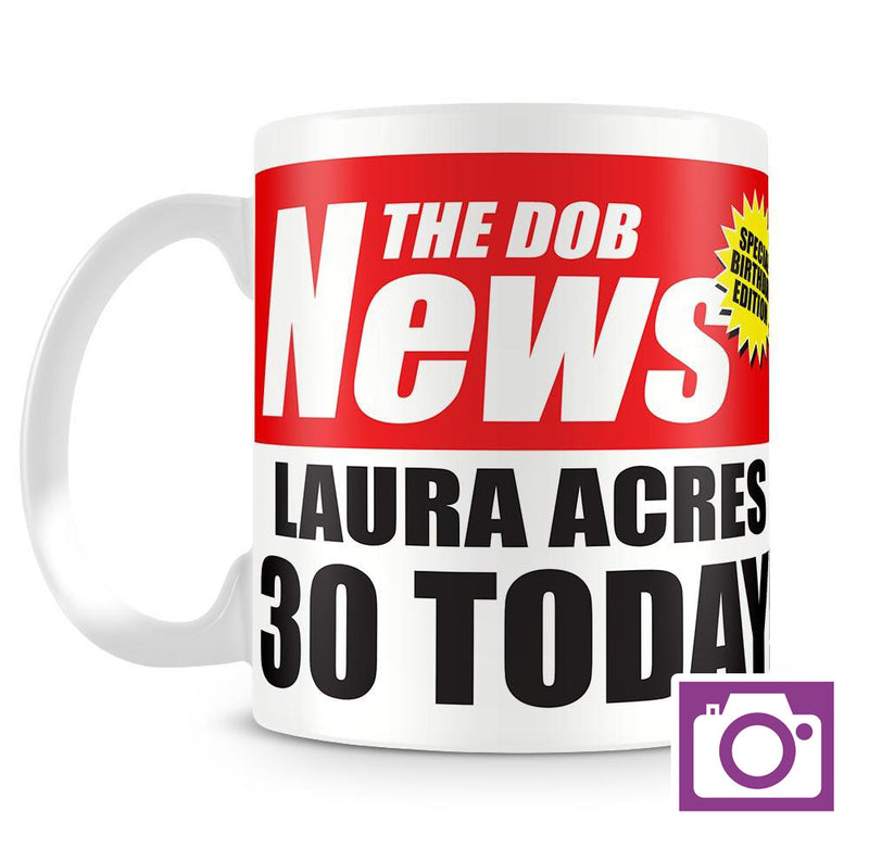 Personalised Mug - Birthday News