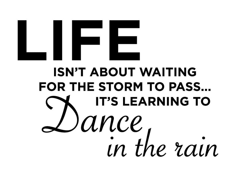Dance In The Rain Wall Sticker - Canvas Art Rocks - 2