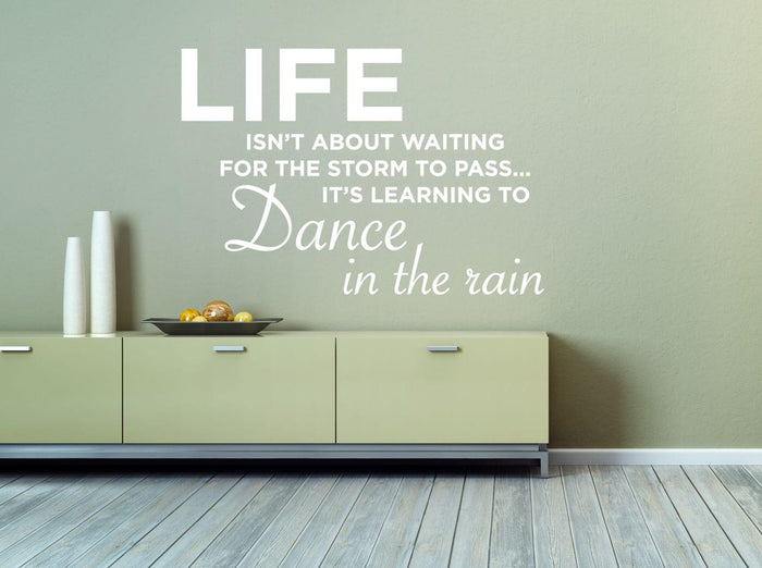 Dance In The Rain Wall Sticker