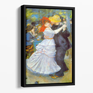 Dance at Bougival by Renoir Floating Framed Canvas
