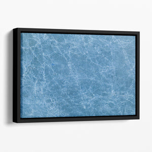 Dark Blue Marble Floating Framed Canvas - Canvas Art Rocks - 1