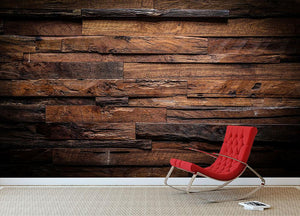 Dark wood texture Wall Mural Wallpaper - Canvas Art Rocks - 2