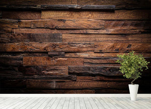 Dark wood texture Wall Mural Wallpaper - Canvas Art Rocks - 4