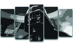 Darth Vader Two Tone 5 Split Panel Canvas  - Canvas Art Rocks - 1