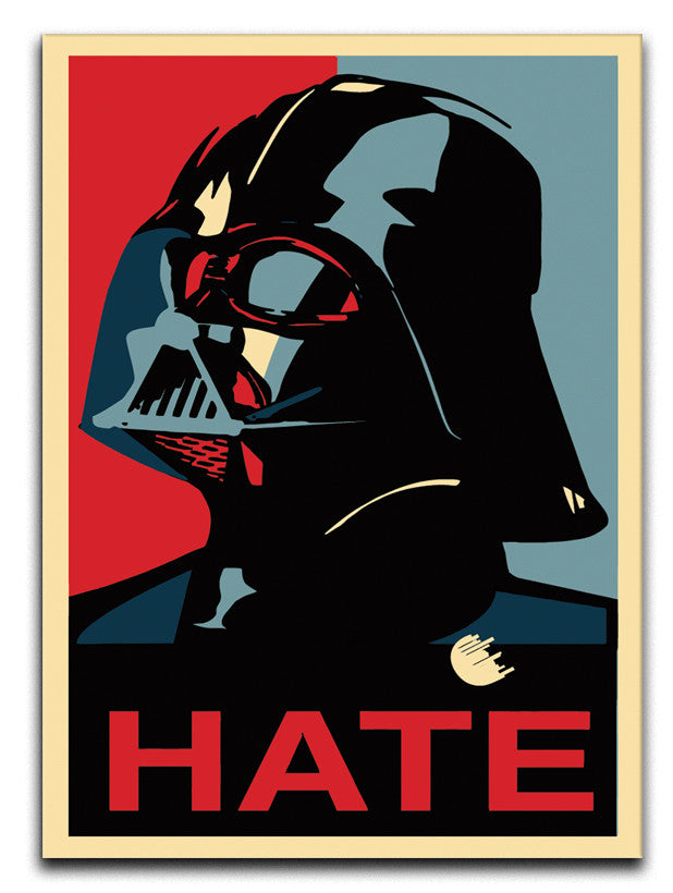Darth Vader Hate Pop Art Canvas Print or Poster