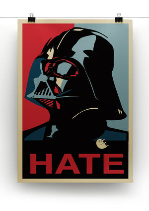 Darth Vader Hate Pop Art Print - Canvas Art Rocks - 2