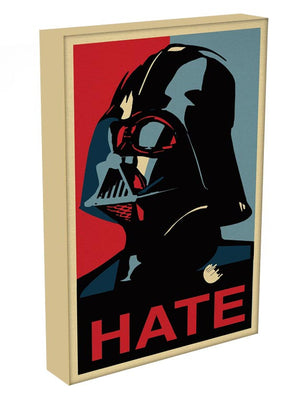 Darth Vader Hate Pop Art Print - Canvas Art Rocks - 3