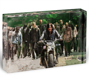 Daryl The Walking Dead Acrylic Block - Canvas Art Rocks - 1
