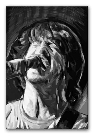 The Foo Fighters' Dave Grohl Print - Canvas Art Rocks - 4