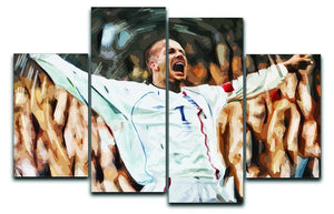 David Beckham England 4 Split Panel Canvas  - Canvas Art Rocks - 1
