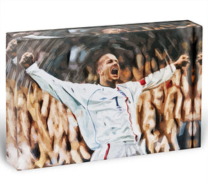 David Beckham England Acrylic Block - Canvas Art Rocks - 1
