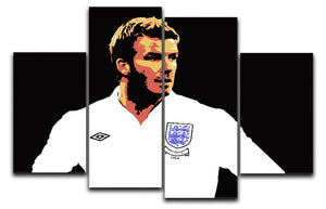 David Beckham Pop Art 4 Split Panel Canvas  - Canvas Art Rocks - 1