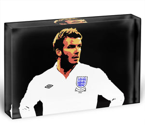 David Beckham Pop Art Acrylic Block - Canvas Art Rocks - 1