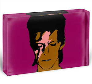David Bowie Ziggy Stardust Acrylic Block - Canvas Art Rocks - 1