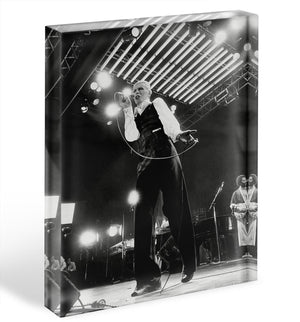 David Bowie at Wembley Acrylic Block - Canvas Art Rocks - 1