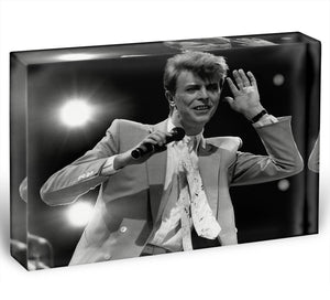 David Bowie in concert Acrylic Block - Canvas Art Rocks - 1