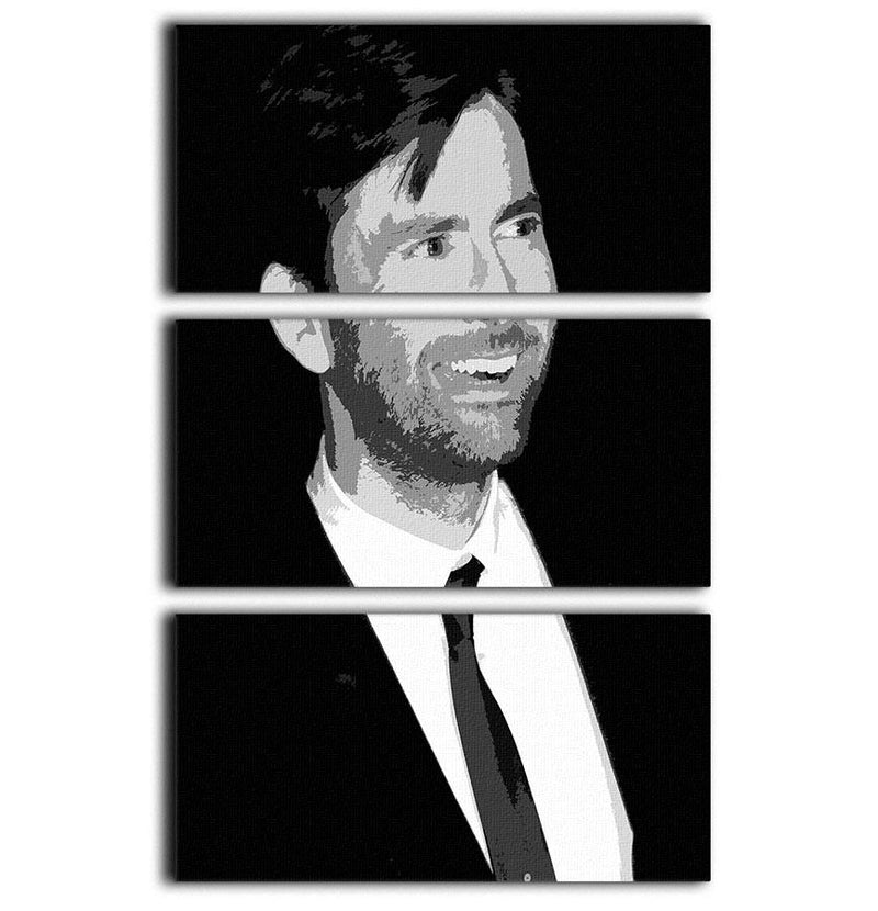 David Tennant Pop Art 3 Split Panel Canvas Print - Canvas Art Rocks - 1