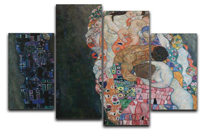 Death and Life by Klimt 2 4 Split Panel Canvas  - Canvas Art Rocks - 1