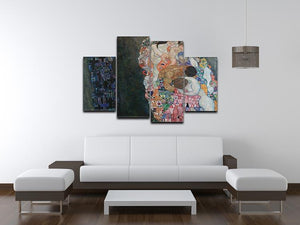 Death and Life by Klimt 2 4 Split Panel Canvas - Canvas Art Rocks - 3