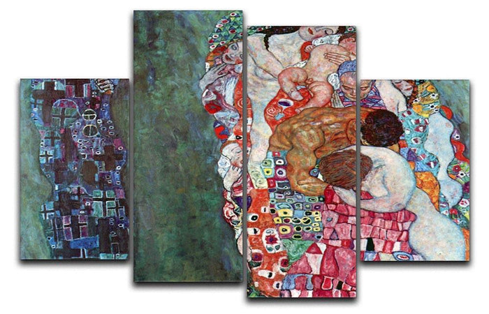 Death and Life by Klimt 4 Split Panel Canvas