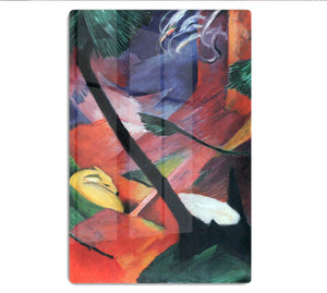 Deer in the forest II by Franz Marc HD Metal Print