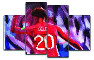 Dele Alli England Celebration 4 Split Panel Canvas  - Canvas Art Rocks - 1