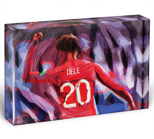 Dele Alli England Celebration Acrylic Block - Canvas Art Rocks - 1