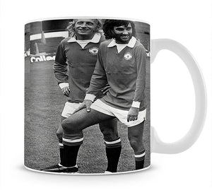 Denis Law and George Best in 1972 Mug - Canvas Art Rocks - 1