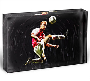 Dennis Bergkamp Acrylic Block - Canvas Art Rocks - 1
