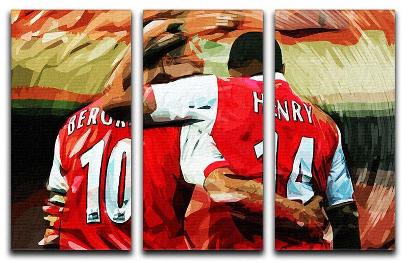 Dennis Bergkamp and Thierry Henry 3 Split Panel Canvas Print - Canvas Art Rocks - 1
