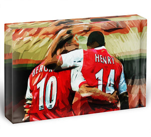 Dennis Bergkamp and Thierry Henry Acrylic Block - Canvas Art Rocks - 1