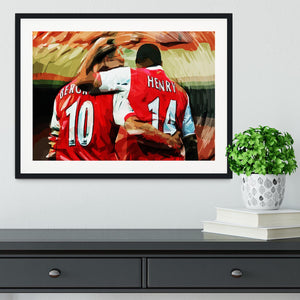 Dennis Bergkamp and Thierry Henry Framed Print - Canvas Art Rocks - 1
