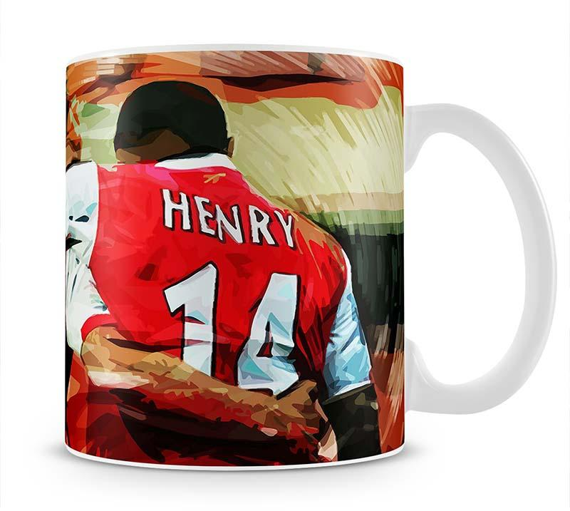 Dennis Bergkamp and Thierry Henry Mug - Canvas Art Rocks - 1
